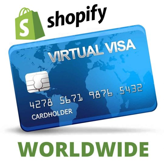 ویزا کارت مجازی ویژه تایید Shopify